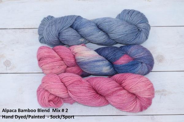 YARN - Alpaca Bamboo Blend - Lindo - Sock/Sport Weight 100g skein