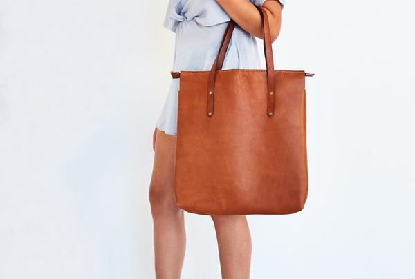 Long Shopper Bag - Chestnut