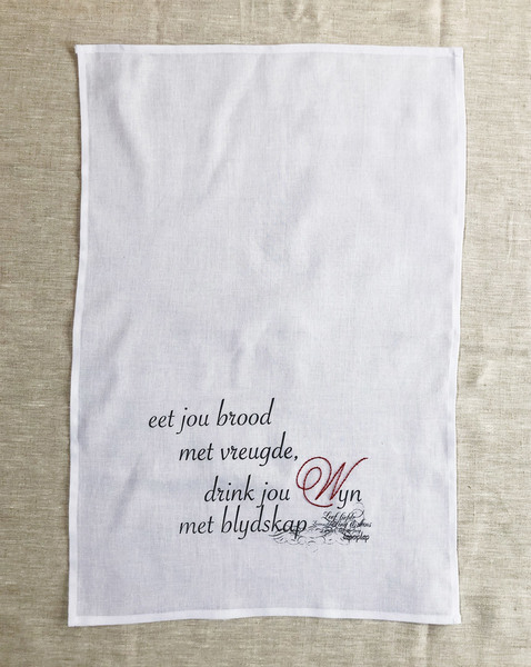 Embroidered Kitchen/Hand Towel - Afrikaans
