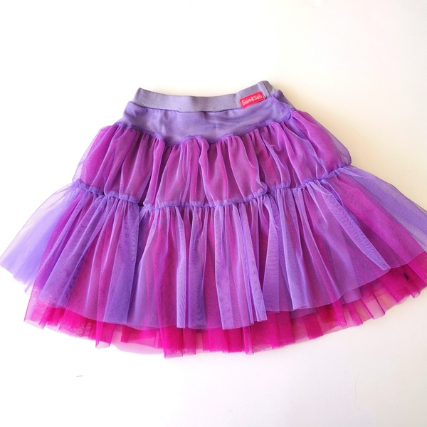 Twirl skirt Lined with a viscose lycra underskirt Lavender and Hot Pink