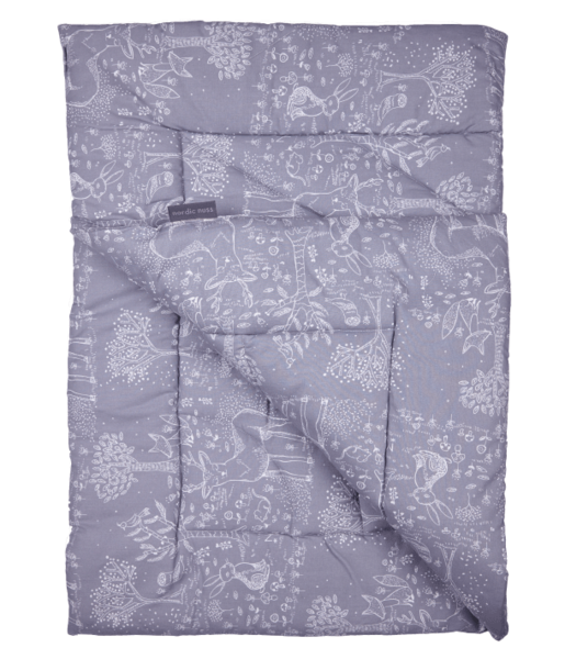 Quilted Play Mat - Grey Woodland