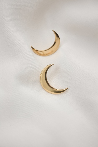 The Crescent Moon Earring