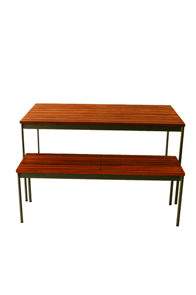 Slatted Table & Bench