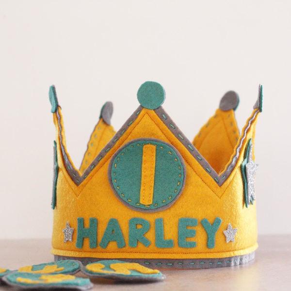 Personalised Felt Birthday Crown