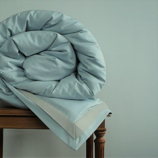 Signature Collection - Double Oxford Duvet Covers - Oyster on Breeze