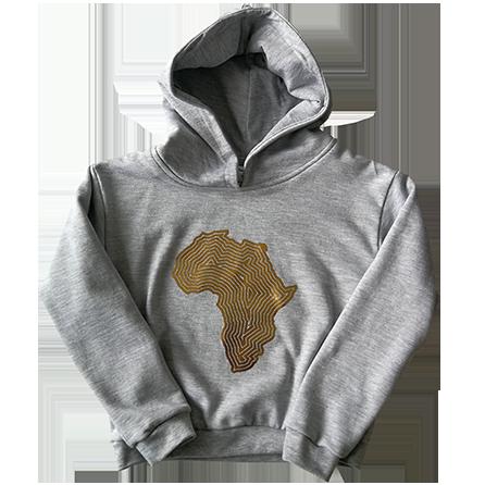 Africa hoodie gold