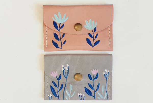 Hand painted Mini Purses - floral