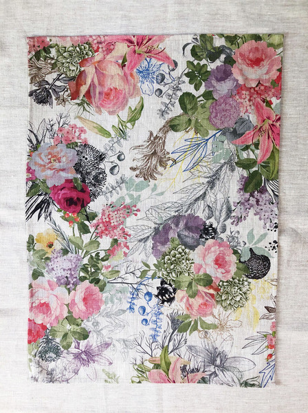 Summer Floral Linen Cloth
