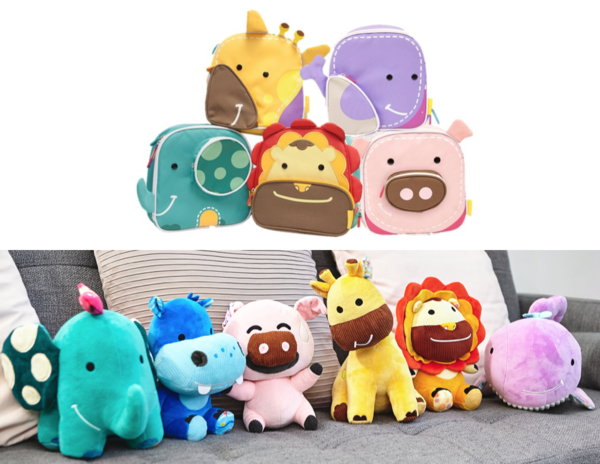 Insulated Lunch Bag & Character Plushies