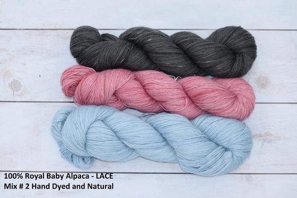 "YARN - 100% Royal Baby Alpaca Yarn in 100g skeins of  LACE weight  ""Bella"""