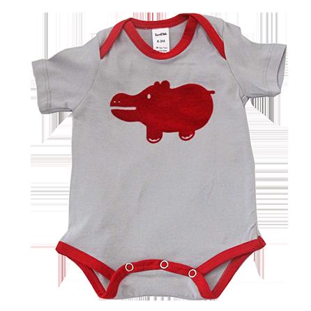 Hippo onesie red