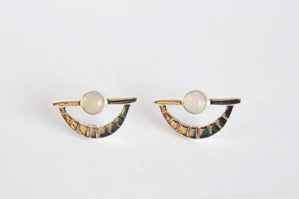 Opal Eye Earring