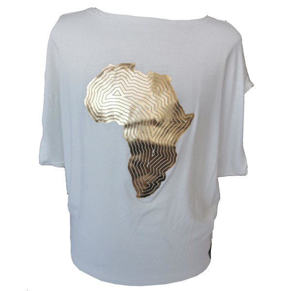 Dolmantee in viscose lycra  Africa print
