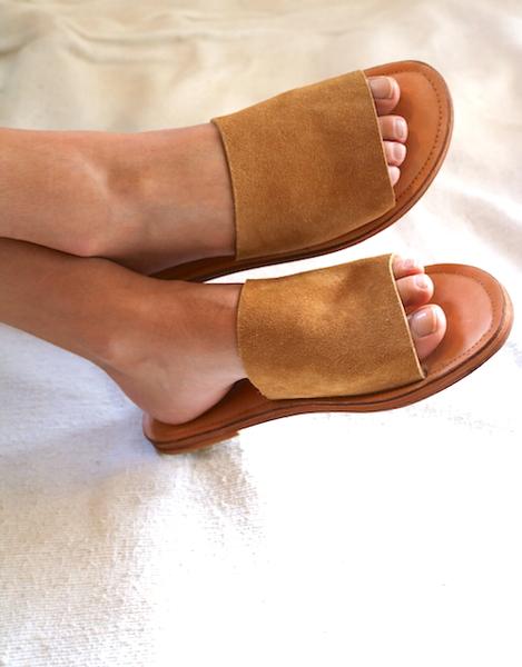 Slide - Camel Leather
