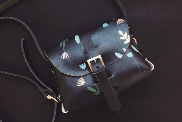 Hand painted Signature Sling - licorice floral