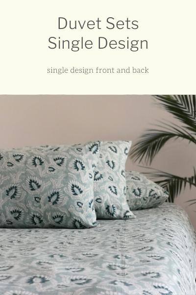 Duvet Sets:  Single Pattern