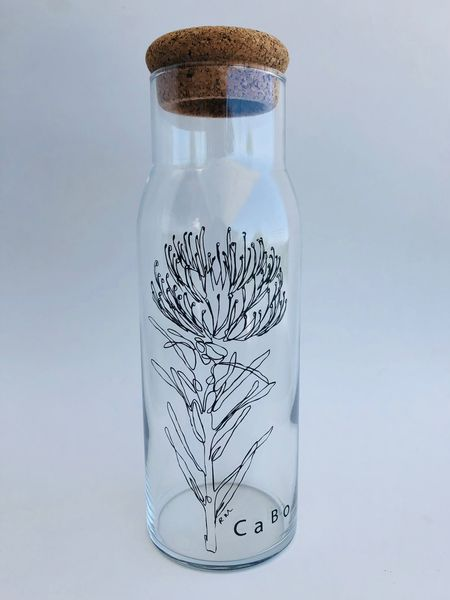 Glass Decanter with Cork Lid