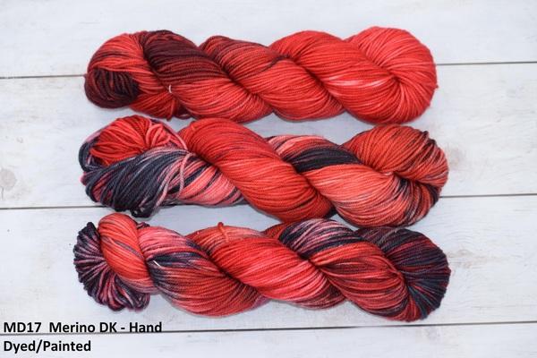"YARN - 100% Merino ""AMARE"" , Hand Dyed/Painted in 100g Skeins in DK weight"
