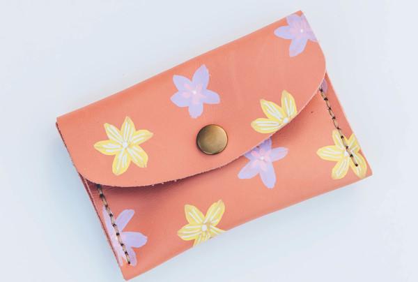 Mini purse - lemon and lilac