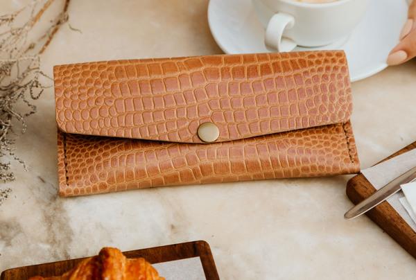 Long wallet - croc embossed