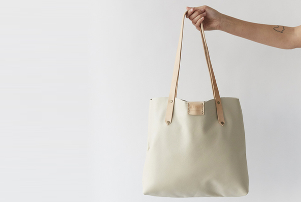 Soft Tote Bag - Eggshell