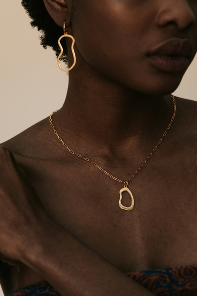 Part of the Hollow Beauty Collection    Material:  - 18ct gold vermeil chain  - 18ct gold brass pendant  - 45cm chain    All our jewelry is handmade at our studio in Woodstock, Cape Town