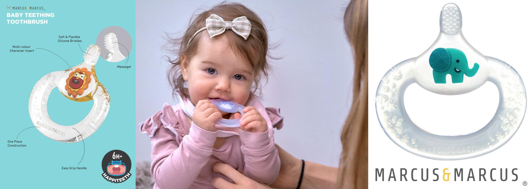 Baby teething toothbrush slider