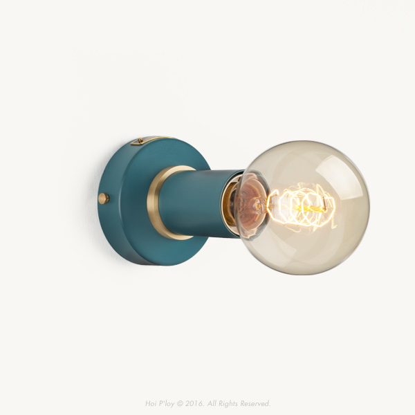 Harbour Teal Simple Wall Sconce