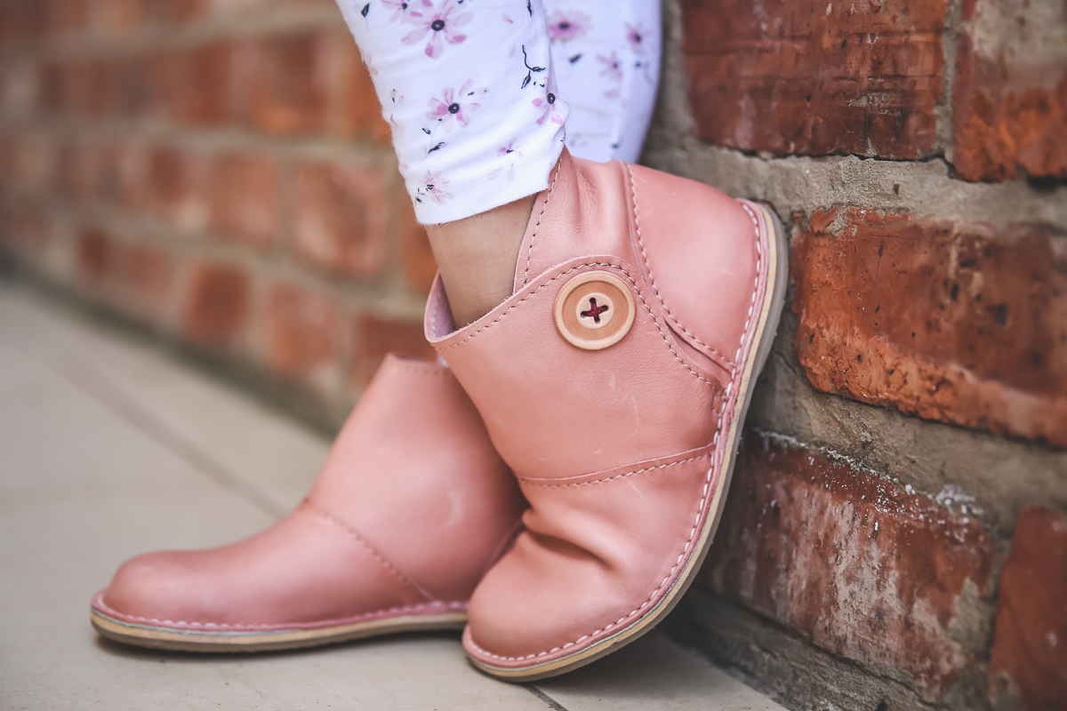 Our Yada Boots are available in navy, pink, yellow, tan, olive and black, with memory foam for comfort and a wide fit to allow developing feet to grow. No synthetic materials touch the feet.  We have very limited stock of kiddies shoes at our George shop. All kiddies shoes are made on order and manufacture can take up to 4 weeks.  How to measure you child's feet.  Interesting facts about leather.  Please state your colour choice in the comments' section of your order.
