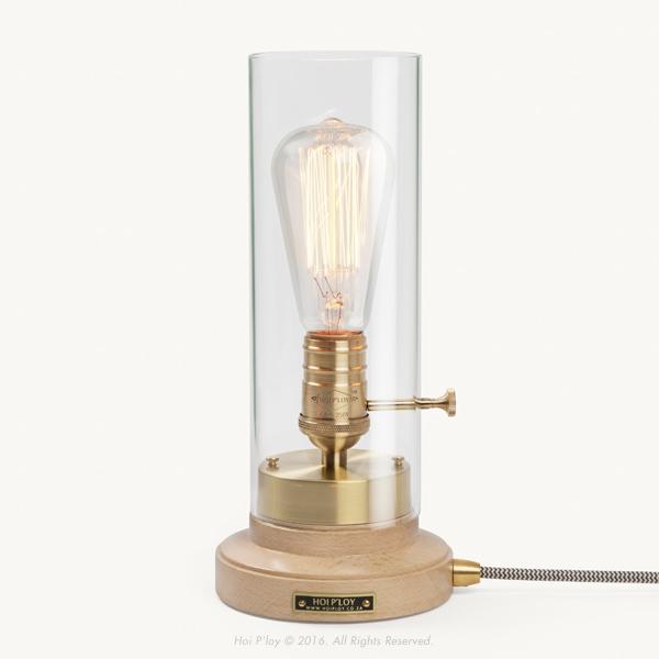 Beech & Brass Bureau Lamp
