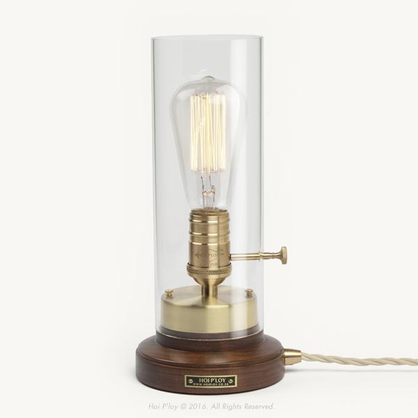 Walnut & Brass Bureau Lamp