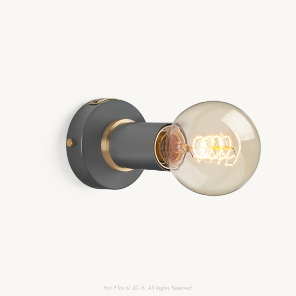 Stone Grey Simple Wall Sconce