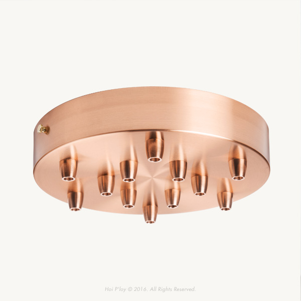 Extra Large Copper Ceiling Cup