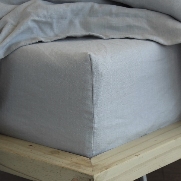 True Linen Collection – Fitted Sheets – Mist