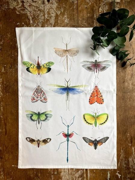 Winged Entomology Tea Towel