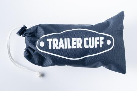 The Trailer Cuff bag is a waterproof canvas bag that keeps all of your Trailer Cuff parts safely secured in one place. A branded Trailer Cuff Buff is provided with it to wipe your hands which usually gets a bit dirty when you hook the trailer onto the vehicle. Or to wear:)