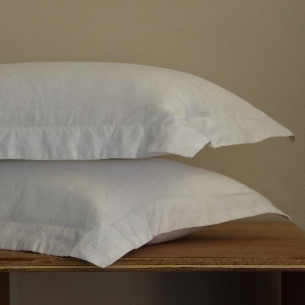 True Linen Collection – Oxford Pillowcases (2) - Salt