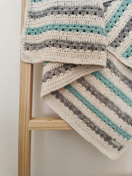 The Stripey Blanket (Grey/Mint)