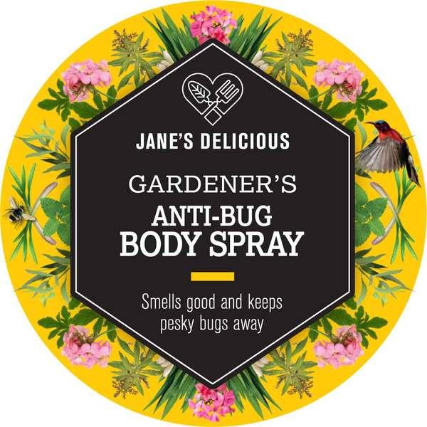Jane's Delicious Gardener's Anti-Bug Body Spray 100ml