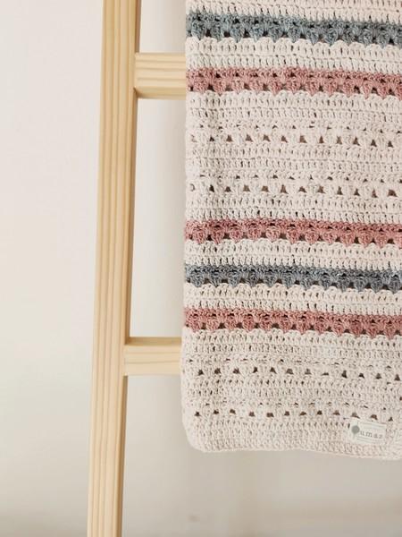 The Classic Blanket (Blush & Grey)