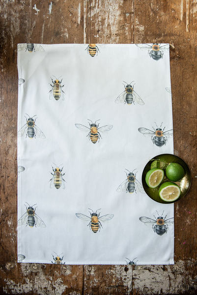 This Tea towels showcases the Honey Bee, Carpenter Bee and the Megachile Chrysorrhoea.