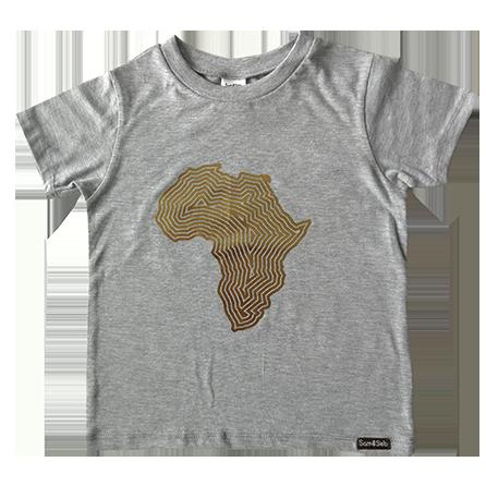 Africa tee gold