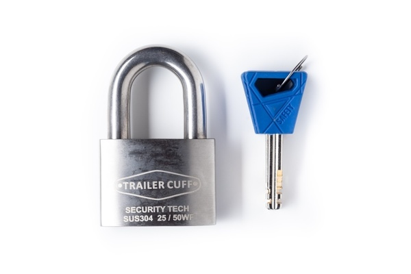 50 mm Stainless Steel Trailer Cuff padlock - 10 mm shackle
