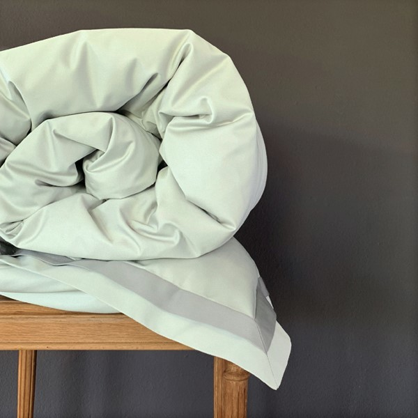 Signature Collection - Double Oxford Duvet Covers - Shadow on Oyster