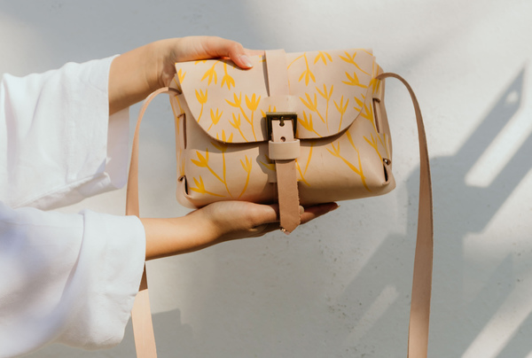 Hand painted Signature Sling - yellow blooms