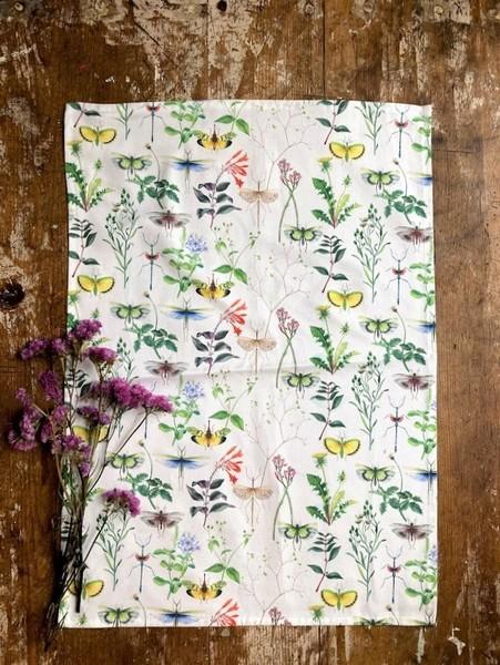 Wildlfowers Tea Towel