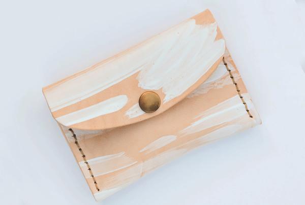 Mini purse -white splash