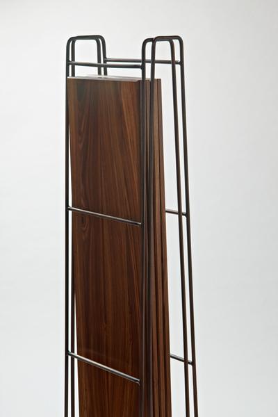 Plank Shelf Kiaat with Antique Copper