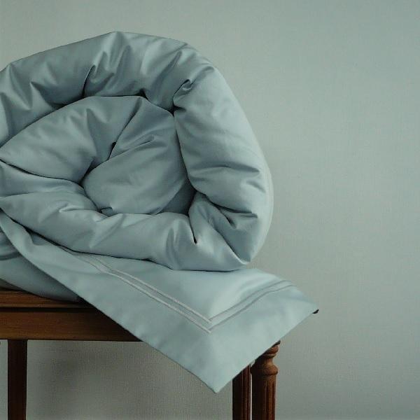 Signature Collection - Oxford Double Satin Stitch Duvet Covers - Breeze on Breeze