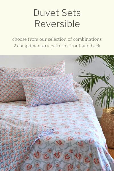 Duvet Sets:  Reversible Patterns